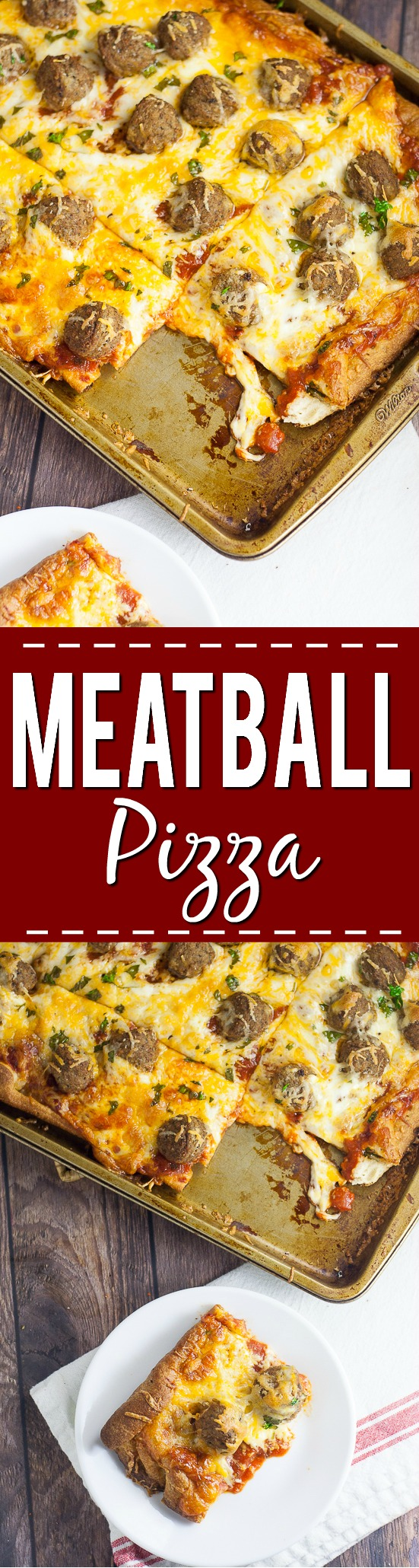 Meatball Pizza Recipe -A quick and easy recipe for Meatball Pizza that even the kids can help with! Crispy crust, gooey cheese, and Italian meatballs make the perfect family pizza night! Quick and easy family dinner recipe the kids will LOVE!