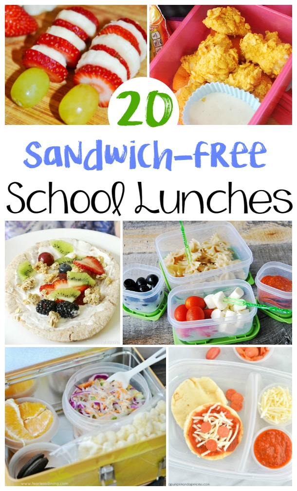 20 Non Sandwich School Lunch Ideas for kids -Make back to school lunches exciting this school year with these 20 yummy and easy non-sandwich school lunch ideas that your kids will love! Perfect back to school lunch ideas. My kids will love these.