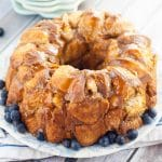 Pull Apart Caramel Coffee Cake recipe - Pull Apart Caramel Coffee Cake takes just 10 minutes to prep for a sticky, gooey, caramel breakfast! Perfect quick and easy breakfast recipe to bake in the oven for a crowd on holiday mornings!