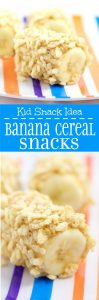 Banana Cereal Snacks- An easy, healthy snack idea for kids. Using ingredients you probably already have on hand.