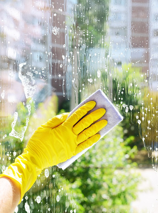 DIY Homemade Window Cleaner - Learn how to make your own easy DIY Homemade Window Cleaner with just 3 ingredients. It works great, and costs just a fraction of the price of store-bought to make!