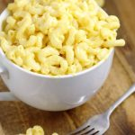 "Mac and Cheese without Flour! - An easy, creamy mac and cheese recipe that makes a great side dish recipe or dinner recipe idea, made without flour or ""cheese product""! Just homemade macaroni with milk, butter, and REAL cheese"