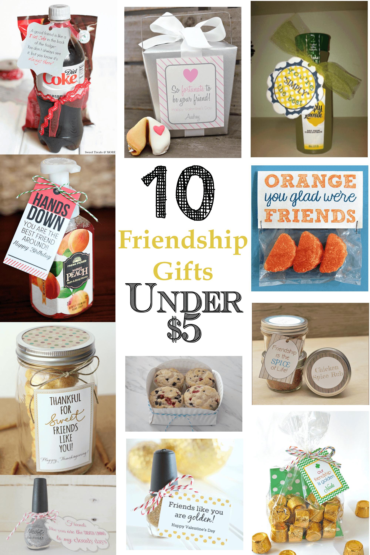 10 Friendship Gifts Under $5