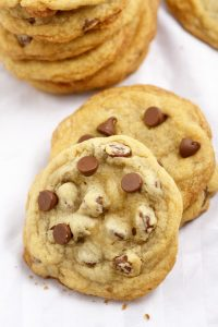 Bakery Style Chocolate Chip Cookies Recipe- Easy and quick dessert recipe with chocolate. Big, delicious bakery-style chocolate chip cookies.