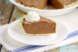 Chocolate Dream Pie is a quick, easy, and simple chocolate pie recipe with creamy chocolate filling in an easy, flaky pie crust.