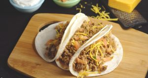 The BEST tacos you will ever make! Sure to be a hit with the whole family! The secret is in the seasoning. #tacos #TacoSeasoning #OneSkilletMeal #DinnerIdeas From TheGraciousWife.com