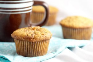 Coffee Toffee Muffins Recipe - Have your coffee and eat it too! An easy breakfast muffins recipe made with coffee and toffee. A perfect pick-me-up breakfast! You can make these for kids too using decaf coffee!  I need this in my life.