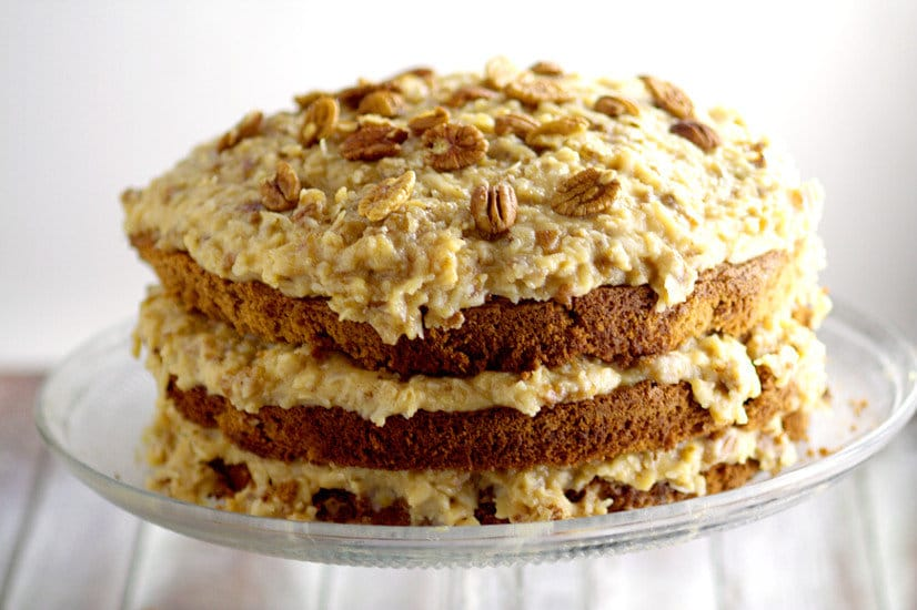 German Chocolate Cake Caramel Pecan Frosting