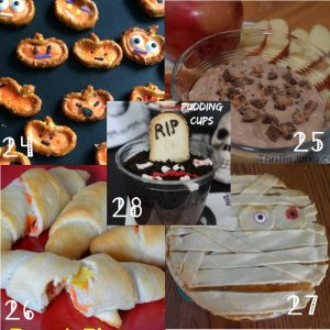 Halloween Sweet Treat Ideas- There's a little bit of everything here: easy to intricate; kids and adult; indulgent or healthy. Take your pick! From TheGraciousWife.com