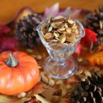 Don't throw out your pumpkin seeds! Toasted Pumpkin Seeds are a delicious and easy snack! From TheGraciousWife.com #fall #halloween #pumpkin #snack
