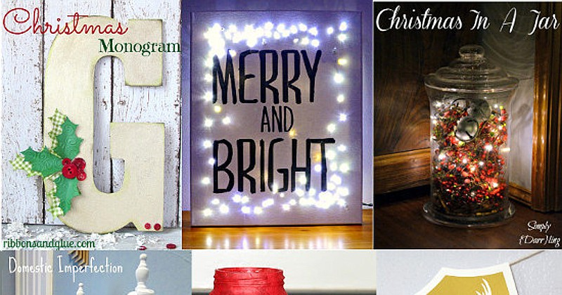 25 DIY Christmas Decor Ideas - Have yourself a handmade Christmas this year with these DIY Christmas Decor Ideas. DIY Christmas decor is cheap and beautiful. Love these! Can't wait to make them this Christmas!