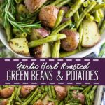 Buttery, crispy red potatoes and fresh green beans tossed with garlic and herbs like rosemary and thyme are roasted in the oven. Garlic Herb Roasted Potatoes and Green Beans are easy to make and a simple, elegant, and flavorful side dish for any meal. Great for Thanksgiving and Christmas. Plus, video!