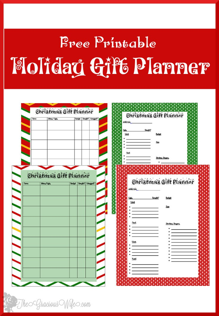 Use this Free Christmas Gift Planner Printable to keep you organized this Christmas season. Check off what you've done and know what you still have left!
