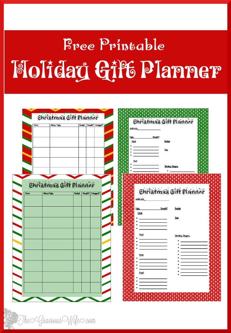 Christmas Gift Planner Printable | The Gracious Wife