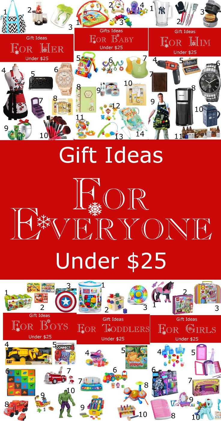 Gift Ideas for EVERYONE under ! Him, Her, Babies, Toddlers, Girls, and Boys! All under ! Plus a chance to win a 0 Amazon Gift card! From TheGraciousWife.com #Christmas #giftideas