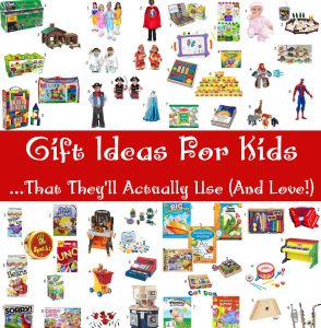 Gift Ideas for Kids that they'll still play with after the shiny new-ness wears off. Toys that encourage imaginative play and learning. From TheGraciousWife.com #Christmas #GiftIdeas