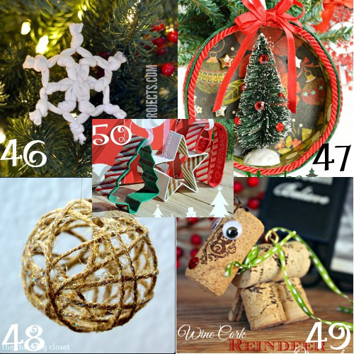 Make your tree look even more amazing with these DIY Christmas Ornaments! Beautiful and fun to make by yourself or for kids to make! From rustic and natural to chic and glass, there's tons of handmade DIY Christmas ornaments ideas and tutorials here! Homemade Christmas ornaments make beautiful gifts too!