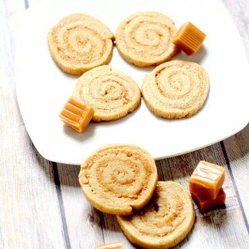 These Caramel Swirl Cookies are a wonderful combination of a soft, chewy cookie swirled with sweet, creamy caramel. Unique and delicious caramel cream pinwheel cookie recipe from scratch. Also would make a great Christmas Cookies recipe. THE BEST for caramel lovers everywhere.