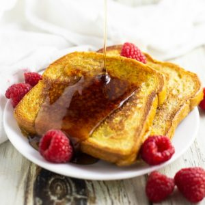 Eggnog French Toast is a super easy and festive breakfast for Christmas. It makes a delicious stress-free Christmas morning breakfast, and it's a perfect way to use up holiday eggnog.