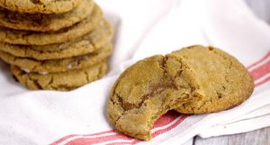 Classic Gingersnaps are a holiday classic and a family favorite that never disappoint with spicy ginger and cinnamon and sweet molasses. My grandma's recipe! Gingersnaps are a perfect Christmas cookies recipe! Love!