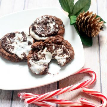 Peppermint Fudge Cookies are a chocolate fudge dream, topped with a peppermint patty for a little Christmas festiveness.Homemade Christmas Cookies are an essential for the holiday! These are the best! I mean seriously, what could be better than mint and chocolate wrapped in a delicious gooey cookie package?!