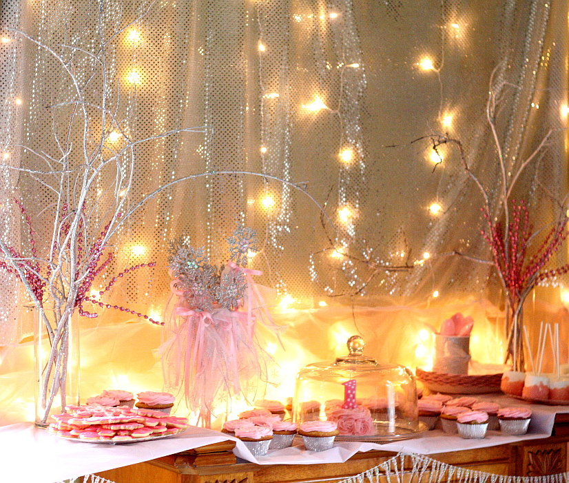 Winter ONEderland birthday party ideas with snowflakes, sparkles, and tulle, fit for a Snow Princess.  Winter ONEderland party ideas for decorations, favors, food, and more!