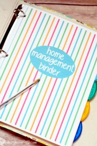 home management binder cover shot