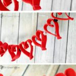 Valentine's Day Heart Felt Garland