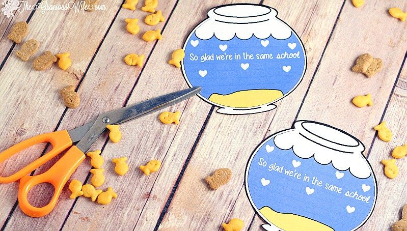 photo relating to Goldfish Valentine Printable named Do-it-yourself Fishbowl Valentine Printable The Gracious Spouse