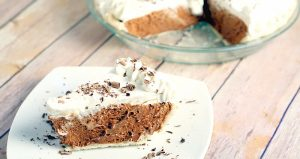 French Silk Pie Recipe- A creamy chocolate dessert pie. From TheGraciousWife.com #desserts #recipe #chocolate