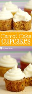 Moist Carrot Cake Cupcakes Recipe with cream cheese frosting - Homemade carrot cake cupcakes recipe from scratch. Delicious and moist and truly the best I've ever had.