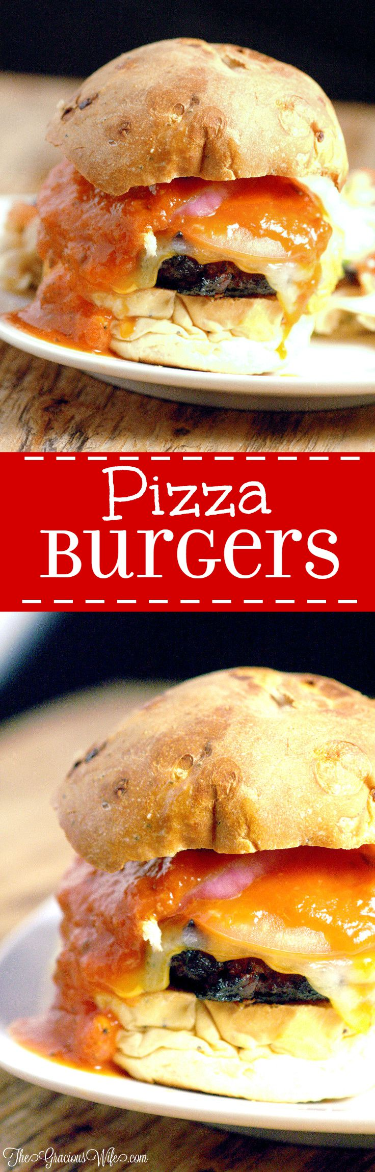 Pepperoni Pizza Cheeseburger Recipe - easy dinner idea recipe perfect for summer and grilling for the whole family. A fun twist on your traditional hamburgers with tasty ingredients including pepperoni, pizza sauce, Italian seasonings, and lots of gooey, melty cheese. Oh my! These sound amazing!