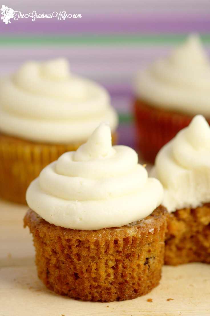 Moist Carrot Cake Cupcakes The Gracious Wife