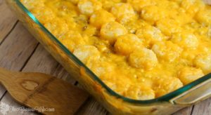Cheesy Tater Tot Cowboy Casserole is an easy dinner recipe, complete with cheesy goodness and tater tots that your kids will love. From TheGraciousWife.com