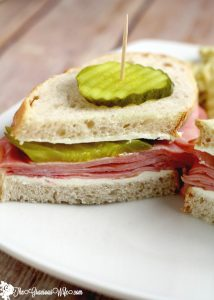 Dill Pickle Ham Sandwich Recipe