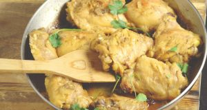 Honey Mustard Chicken Recipe- A sweet and tangy one-skillet meal. #chicken #onepotmeal #dinner #recipe From TheGraciousWife.com