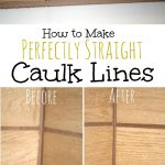 Make Perfectly Straight Caulk Lines