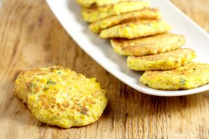 Fried corn cake recipe