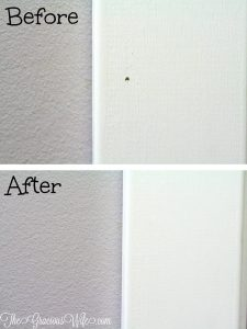 How to Fill Nail Holes easily and frugally with this easy DIY and home improvement hack.