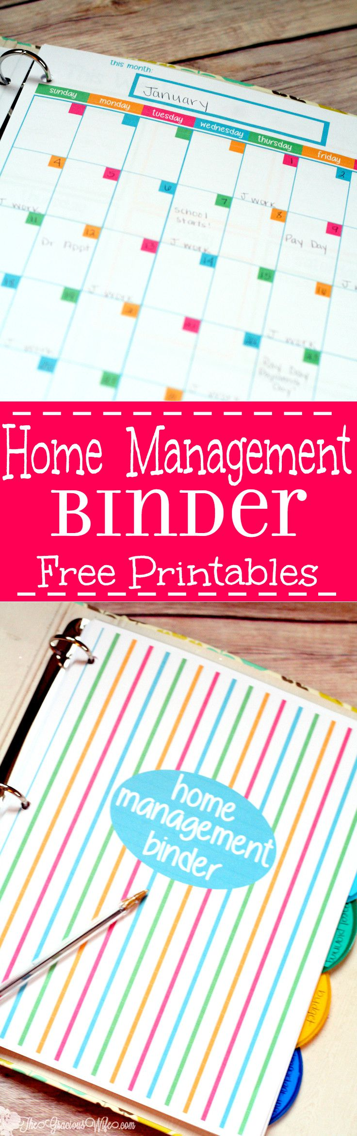 Home Management Binder Printable Pages