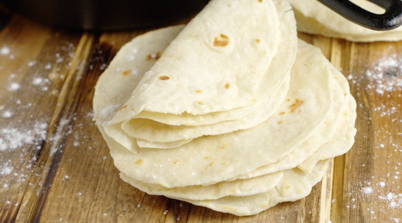 Easy Homemade Flour Tortillas | From TheGraciousWife.com
