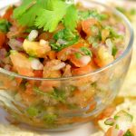 BEST Easy Homemade Pico de Gallo recipe - an easy cold dip recipe that's also a delicious topping on just about everything! Yes! Homemade is always better!