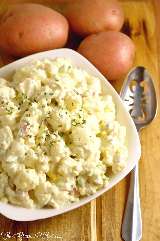 Best potato salad recipe the gracious wife best potato salad recipe easy classic southern potato salad recipe i never liked potato forumfinder Gallery
