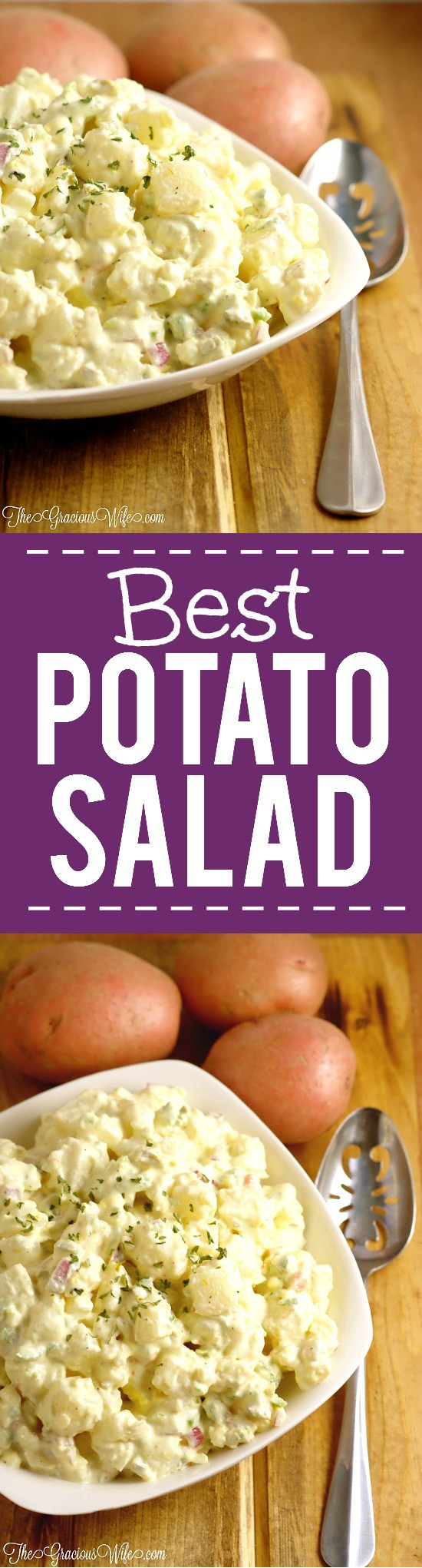 Best Potato Salad Recipe - Easy classic southern potato salad recipe. I never liked potato salad until I tried this recipe. It's seriously the BEST potato salad recipe! My favorite.. Great for a crowd and for potlucks.