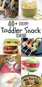 OVER 40 Snack Ideas for Kids! These easy and healthy snacks are fun and great for after school or on the go!
