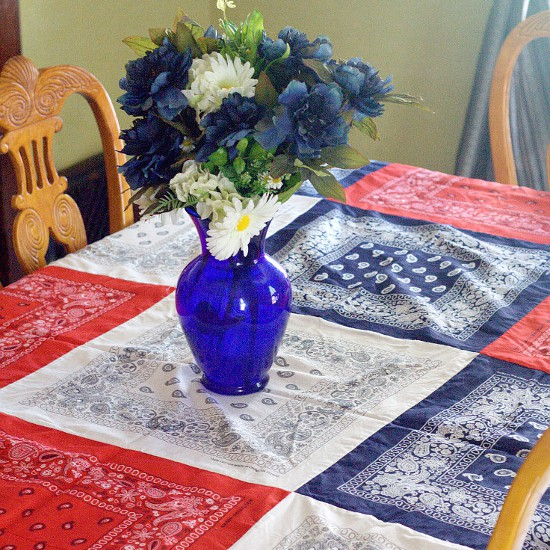 Easy DIY Bandana Tablecloth