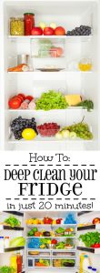 How to Deep Clean your Fridge in just 20 minutes! This really works! I didn't know deep cleaning your refrigerator could be so easy