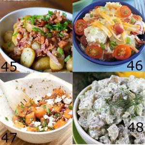 Picnic Side Dishes Recipes - Pasta Salad, Potato Salad, Coleslaw, Oh my! Perfect easy salad and side dishes recipes for BBQ, summer, and picnics
