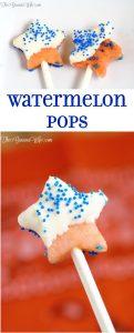 Watermelon Pops Recipe - a fun Summer and patriotic 4th of July recipe idea. What a fun snack idea for kids!