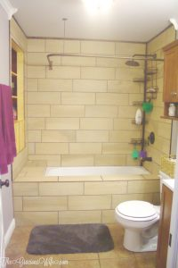Our FULL DIY bathroom remodel. We redid everything in the bathroom from the plumbing and walls to totally revamping the bathroom decor and tileand adding lots of bathroom storage. | bathroom ideas